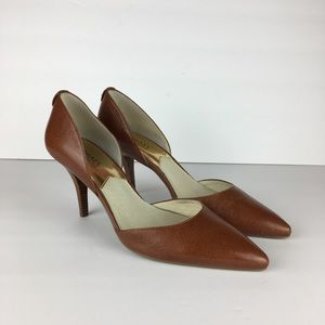 Michael Kors Brown Leather Heels size 8